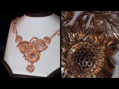 Ювелирные украшения с камнями из золота и серебра фото