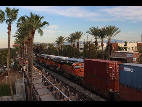 (HD) Railroading BNSFs San Bernardino Subdivision- Fullerton, CA