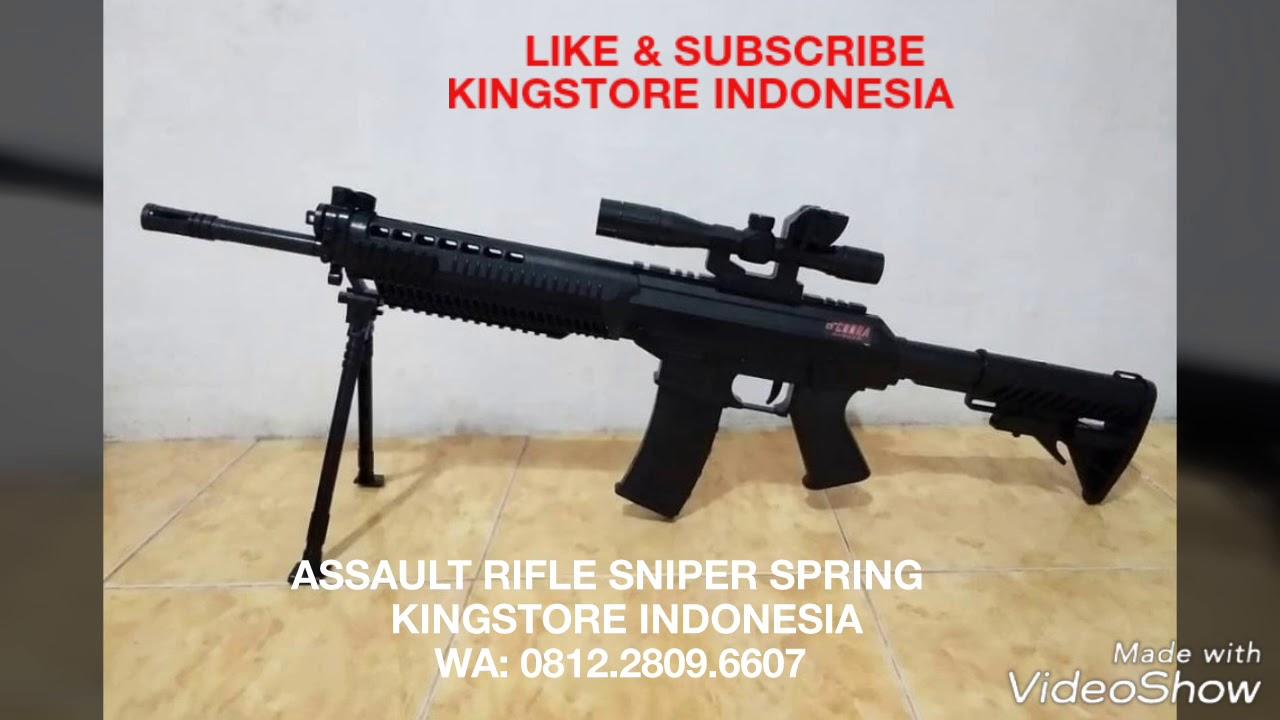 Airsoft Assault Rifle Sniper Spring Abs Laras Panjang Youtube