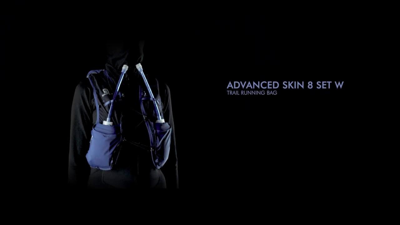 Salomon Adv Skin 8 Set Womens Running Vest YuccaCanton