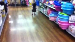 Raina shopping at Walmart