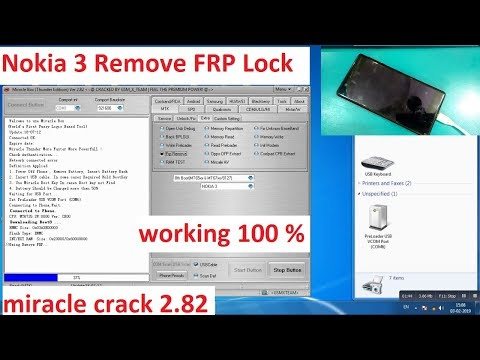 Nokia 3 FRP Lock Reset By Miracle Box Crack 2 82 | 100