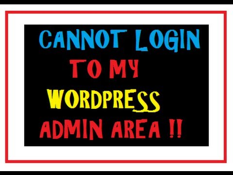 Can't Login To Wordpress Admin - Error Fix