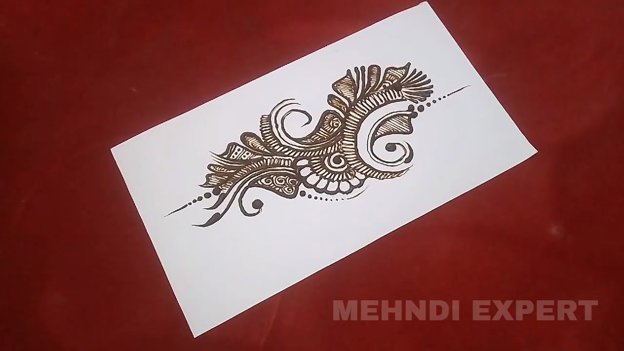 Easy Mehndi Patterns On Paper : Mehndi design pattern on paper ☆ step by tutorial youtube