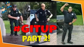 👮These Police Officers KILL the GIT UP Dance Challenge! [Part 2]👮🔥🚔🔥 #Gitupchallenge
