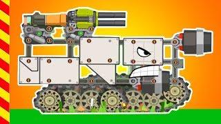Мультик про Танковые сражения. Злой танк нападает на мега машину. Мультфильм про монст-машины