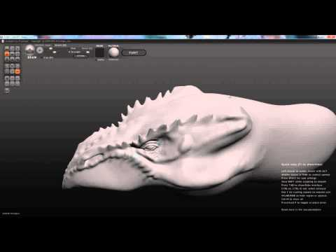 Dragon head with Sculptris