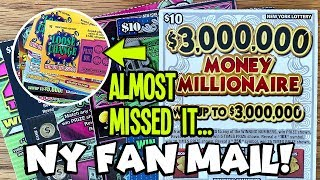 WINS! OVER $50 in NY Lottery Scratch Off Tickets! $3,000,000 Money Millionaire, Money Clip + MORE!