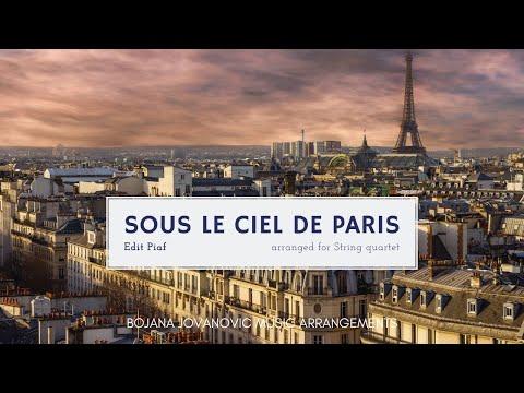SOUS LE CIEL DE PARIS (Edith Piaf) SHEET music for STRING quartet !