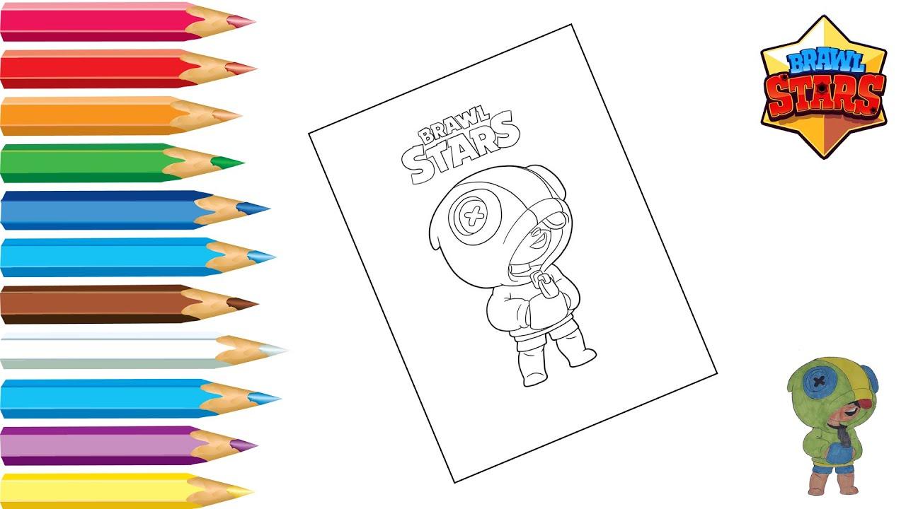 Раскраска Леон Бравл старс / Coloring Leon Brawl Stars ...