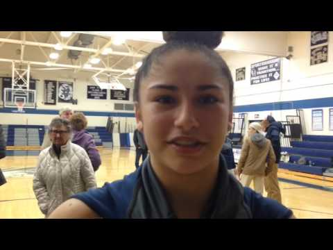 Camp Hill's Diamond Bragg after team's win over Milton Hershey