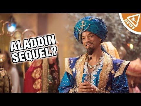 Is the Live Action Aladdin Sequel a mistake for Disney? (Nerdist News w/ Maude Garrett)