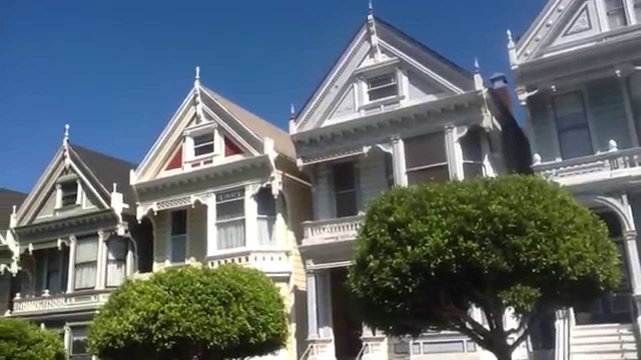 San Francisco Painted Ladies Victorian Homes In Opening Scene Of