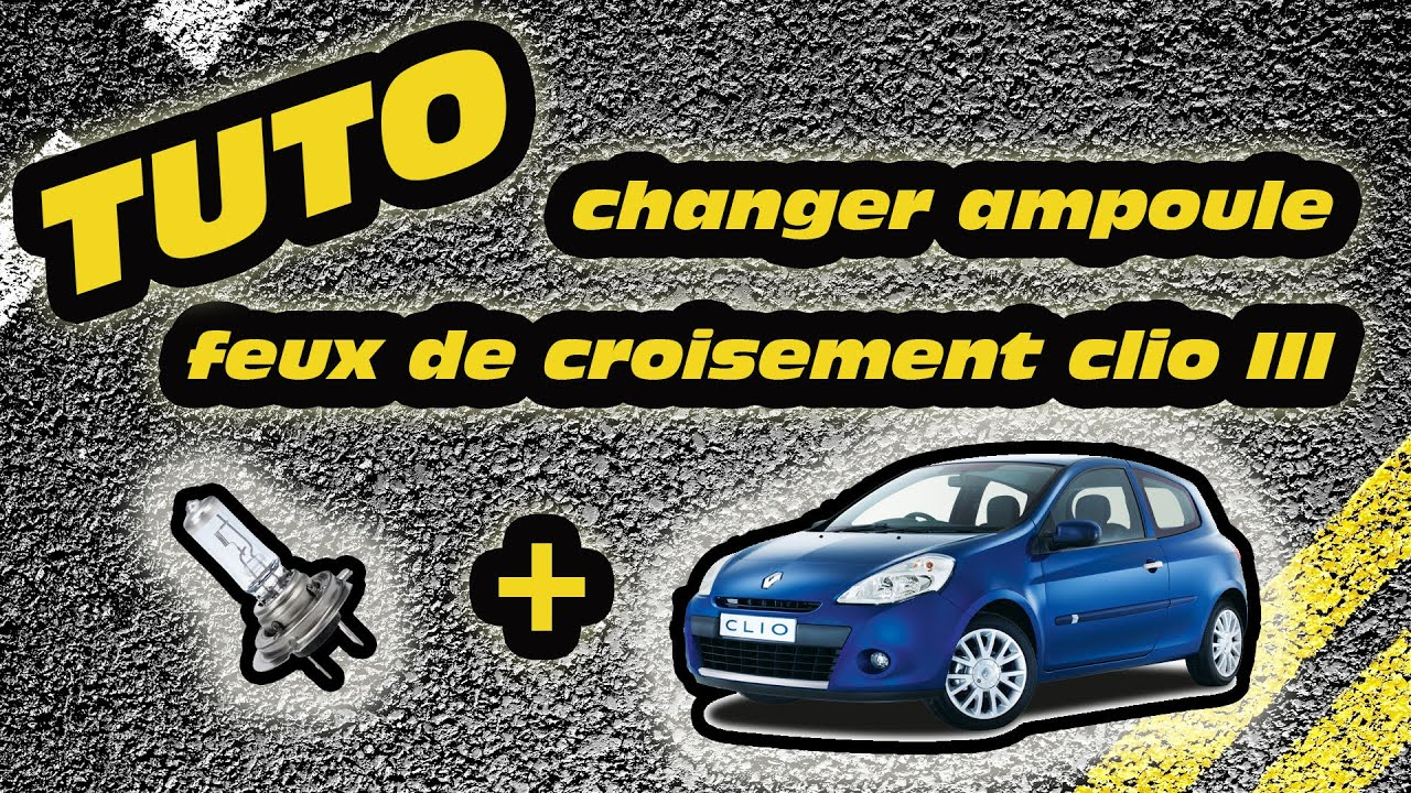 tuto changer ampoule feux de croisement clio 3 how to change a clio 3 39 s headlight bulb youtube. Black Bedroom Furniture Sets. Home Design Ideas