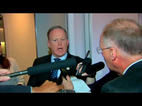 WATCH: Sean Spicer On Air Force One - Days After Melissa McCarthy Skit On SNL