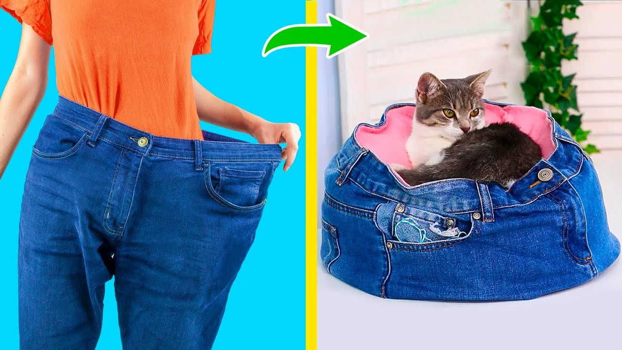 [VIDEO] - 14 Old Jeans Reuse Ideas! 4