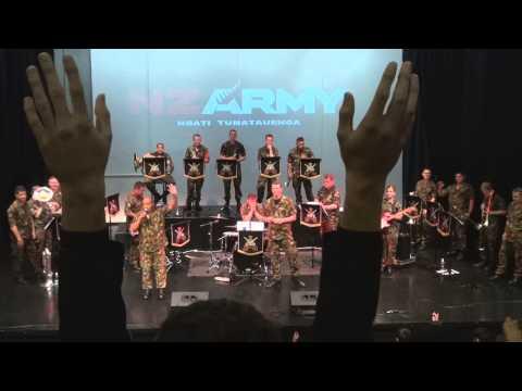 NZ Army Band Visits Massey High School
