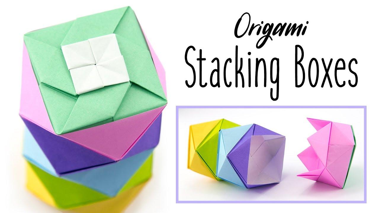 Origami Stacking Boxes Tutorial - DIY - Paper Kawaii - YouTube - photo#1