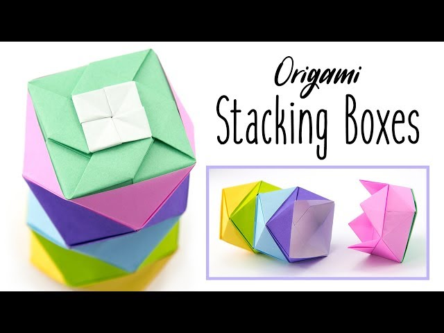 Origami Stacking Boxes Tutorial ♥︎ Paper Kawaii