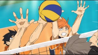 Hinata and Kageyama Block Miya Twin's Quick - Haikyuu!! To the Top 2nd