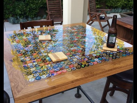 Bottle Cap table using 625 beer bottle tops!