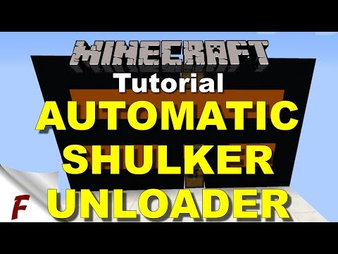 ✅ Minecraft Fully Automatic Shulker Box Unloader Tutorial   1.12, XBOX ONE, WIN10, PS4