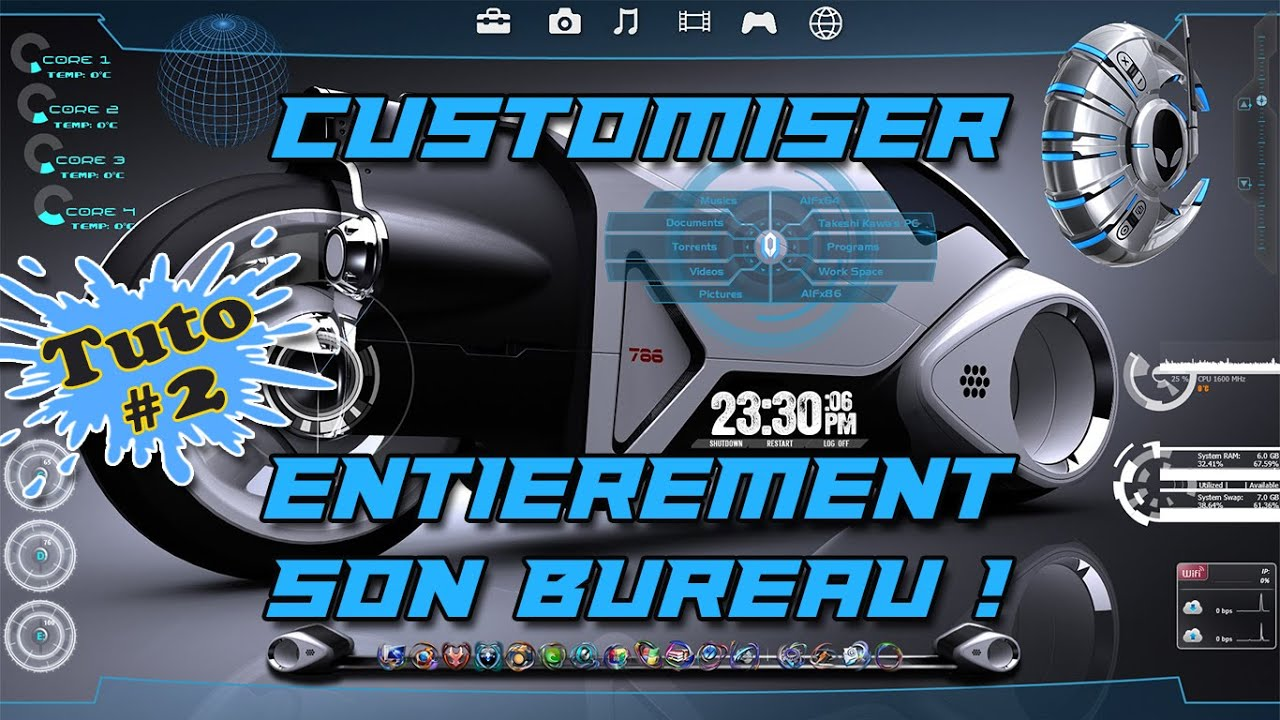 Tuto customiser et personnaliser totalement son bureau pc part 02 youtube - Personnaliser son bureau windows 7 ...
