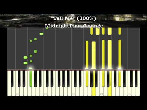 ♫ Tell Me by Groove Theory Piano Tutorial In F# Minor ♫