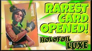PANINI FORTNITE LUXE HOLOFOIL CARD! (RAREST CARD!)