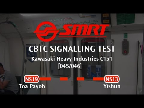 CBTC Trial - SMRT C151 [045/046]: Toa Payoh → Yishun (Last Train » Jurong East)