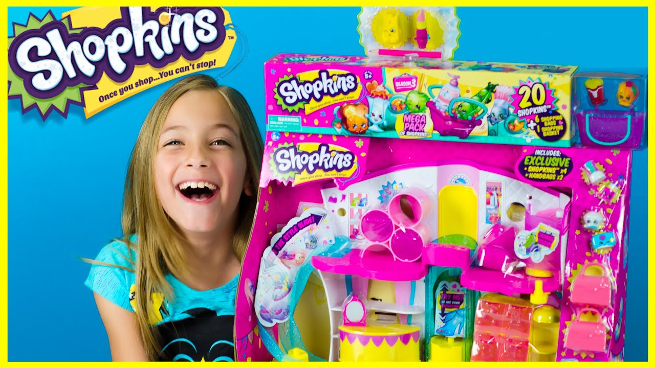 SHOPKINS SEASON 3 FASHION BOUTIQUE PLAYSET + MEGA PACK + *NEW* PENCIL ...