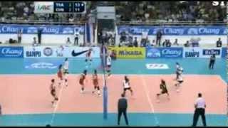 วอลเลย์บอลหญิงชิงแชมป์เอเชีย ไทย 3-2 จีน 3 แต้มสุดท้าย