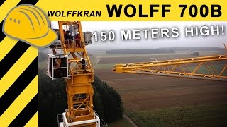 🔥Jobreport: WOLFF 700B Towercrane installing 150m Wind Turbine - Wolffkran Windkraft Doku