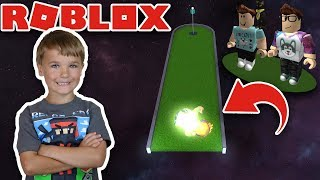 I AM A GOLF BALL in ROBLOX GALACTIC GOLF OBBY by DENISDAILY AND ALEX | ROBLOX PARKOUR