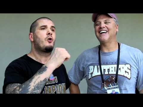 Phil Anselmo (of Pantera and Down) with Bobby Hebert at Saints Training Camp 2011