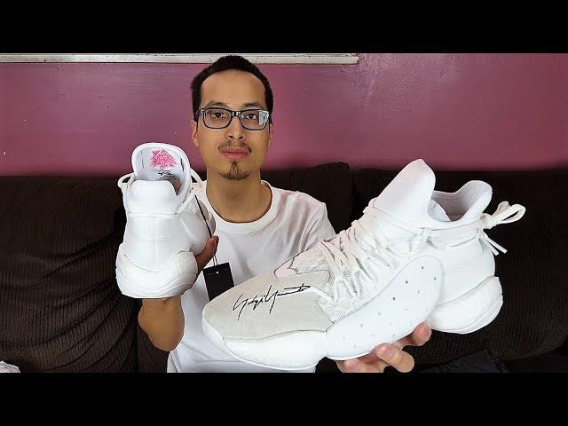 067bd49c9f6d The Most BOOST You ll Ever See On A Shoe! Adidas Y-3 BYW Bball x James  Harden Core White Reveiw!!! - YouTube