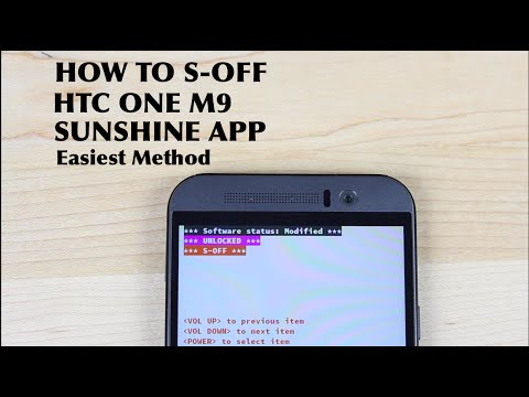How TO S-OFF HTC ONE M9 Sunshine App Easiest Method!