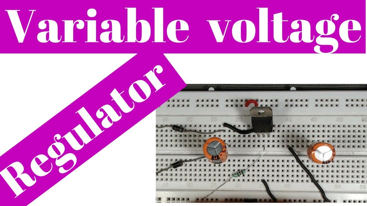 How To Make A Variable Dc Power Supply On Breadboard Youtube Circuit Together With