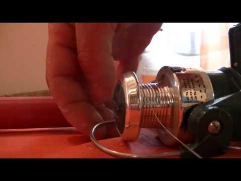 Montage de fil de pêche sur un moulinet