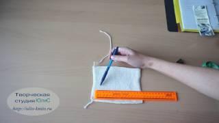 Вязание. Манишка. Расчет петель