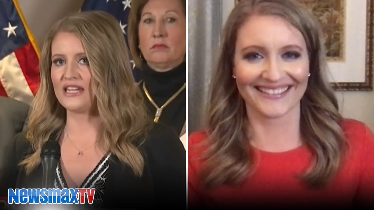 Jenna Ellis reacts to her own comments at the legal presser