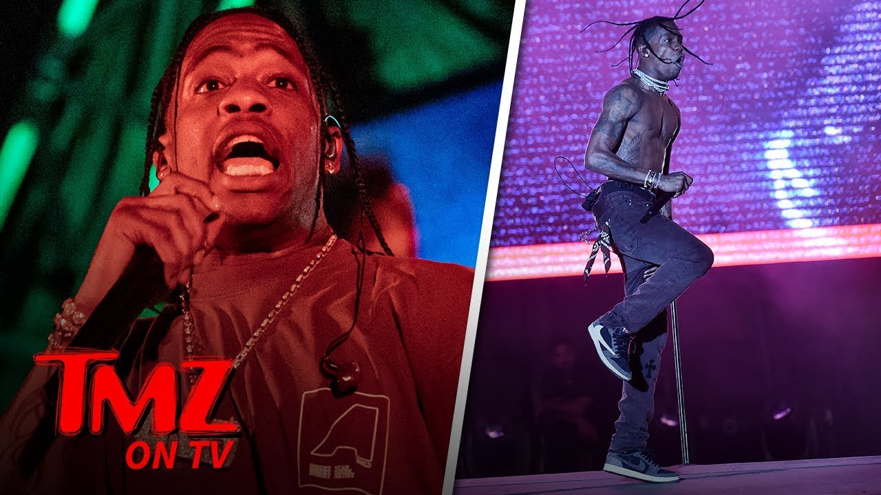 Travis Scott Takes A Tumble While Performing! | TMZ TV