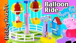 Peppa Pig Deluxe Balloon Ride PlaySet Toy! Fun Park George Hammer by HobbyKidsTV