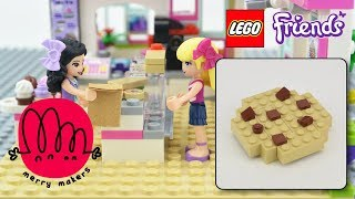 LEGO Friends Tutorial - How to build a Chocolate Chip Cookie