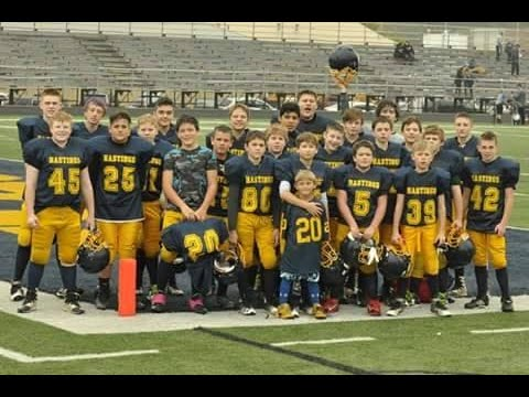 Hastings Saxon 7th Grade Football Team:  Undefeated & Unscored On!