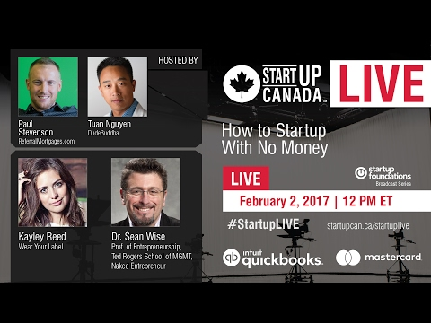 #StartupLIVE - How to Startup with No Money