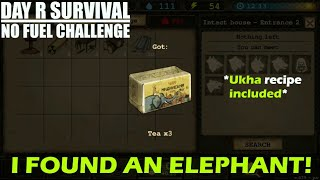 [NO FUEL CHALLENGE] Day R Survival Part 13 - I Found An Elephant.. on Tea Box