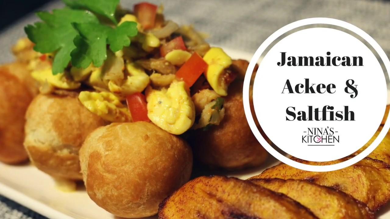 Jamaican ackee and saltfish recipe youtube for Jamaican salt fish
