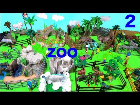 Wild ZOO Animal Toys For Kids 2 - Learn Animal Names and Sounds - Learn Colors