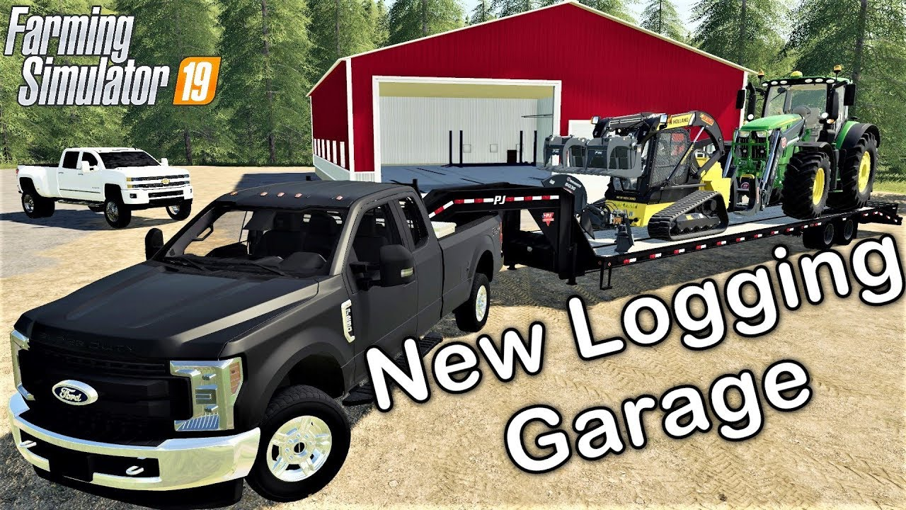Farming Simulator 19 Setting Up Our Garage On The New Boulder Canyon  Logging Map FS19 Ford F-250 Mod